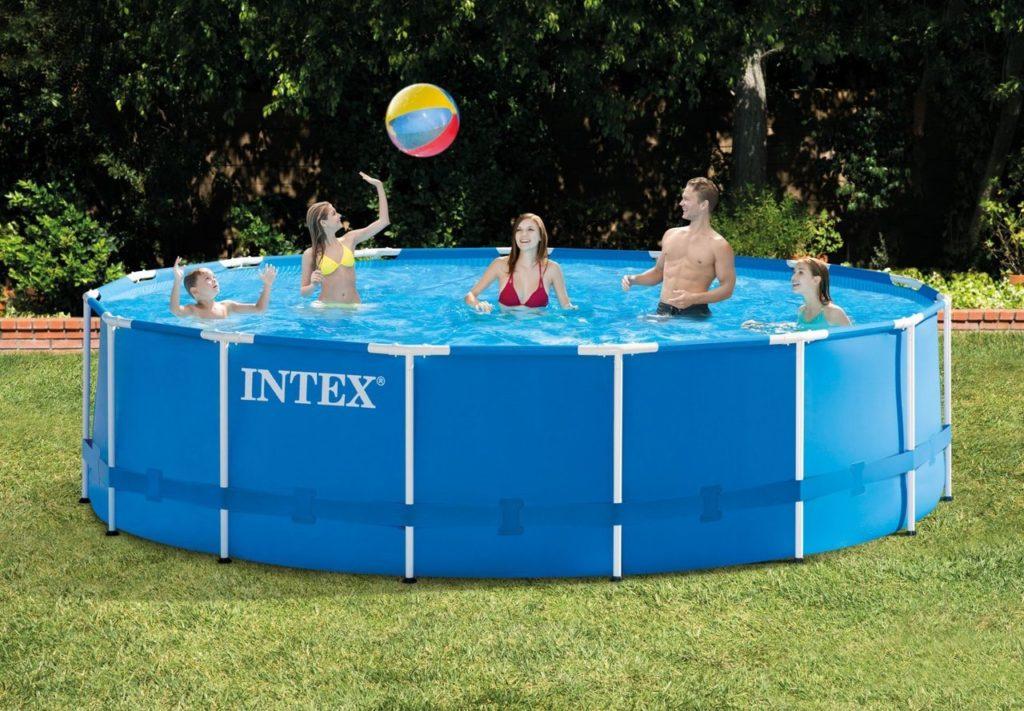 large above ground intex pool