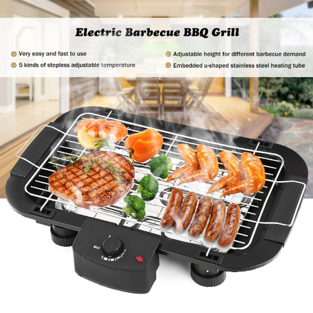 non-stick electric barbecue grill