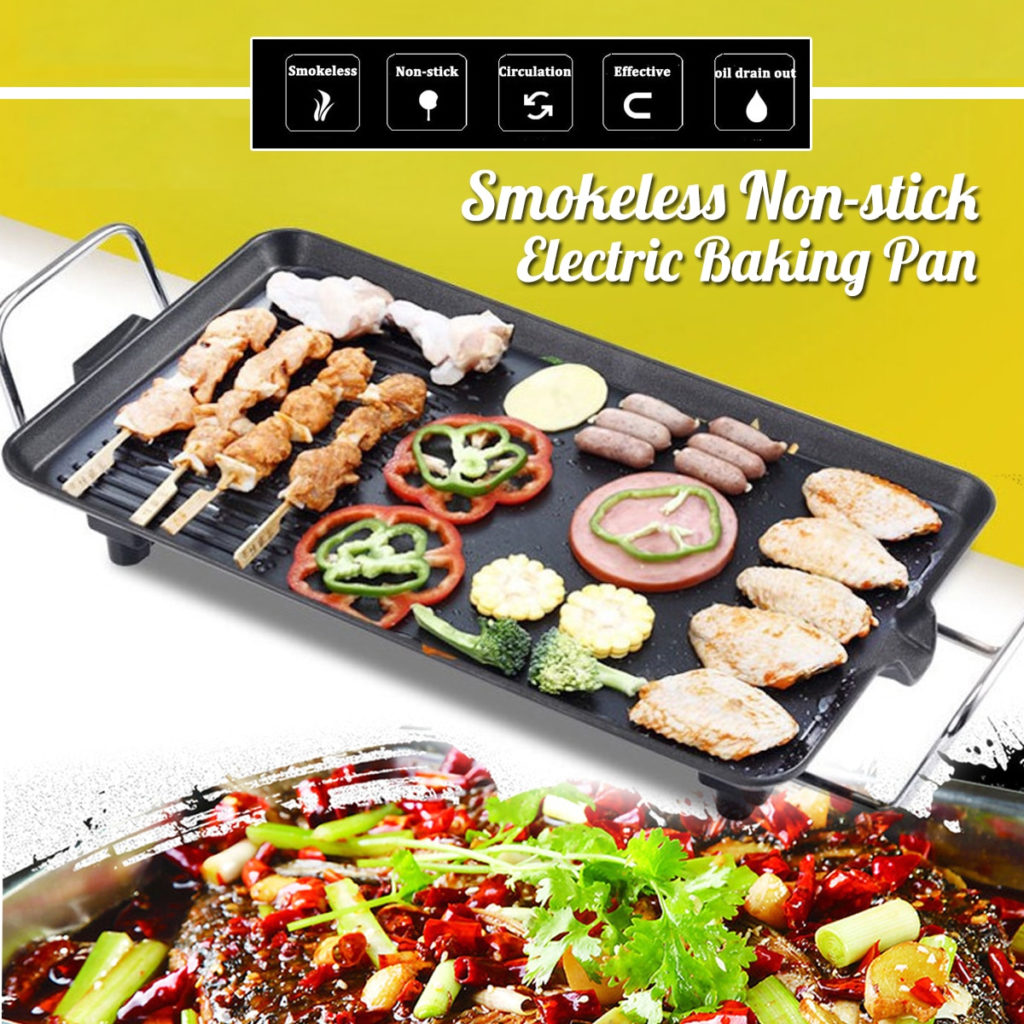 Kitchen Non-stick Electric BBQ Grill